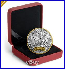 1 oz. 99.99 Pure Silver Gold-Plated Coin First World War Allies Canada (2018)