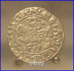 1558 Poland / Lithuania Silver 1/2 Groschen, Old World Silver Coin