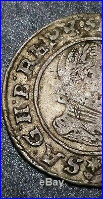 1628 Austria 3 Kreuzer King Ferdinand II Holy Roman Emperor World Silver Coin