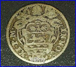 1688 1/2 Grasso Papal / Italian States Old World Silver Coin. Very Rare