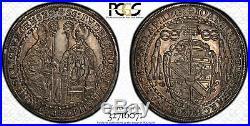 1694 Austrian States Salzburg 1/2 Thaler World Silver Coin PCGS AU 58