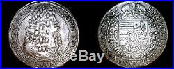 1698 Austrian 1 Thaler World Silver Coin Austria Leopold I Hogmouth LOOPED