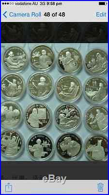16pc china1990-94 world cultural figures silver coins