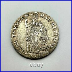 1791 Netherlands 1 Gulden Silver World Coin Rare Historical High Grade