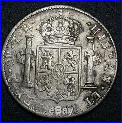 1805 TH Mexico 8 Reales Milled Bust Colonial Piece Of Eight Silver World Coin AU