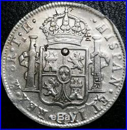 1807 TH Mexico 8 Reale Chopd Bust King Charles IV U. S. First Silver World Coin