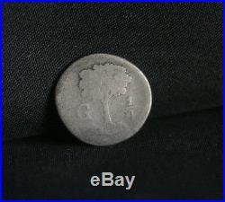1843 Central America Republic 1/4 Real Silver World Coin KM1 RARE Guatemala
