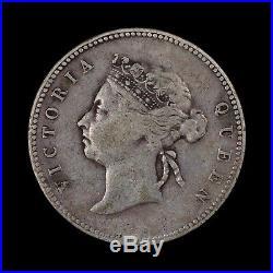 1893 Hong Kong 50 Cents Rare World Silver Coin