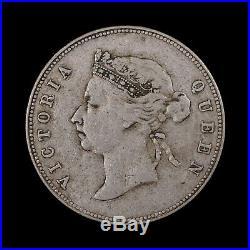 1894 Hong Kong 50 Cents Rare World Silver Coin