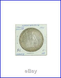 1911 Great Britain $1 British Trade Dollar. 900 Silver KM# T5 World Coin