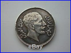 1932 Iraq 200 Fils AH 1350 Riyal Coins World 29g Silver