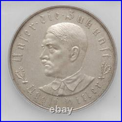 1933 Germany Third Reich Silver Coin / Medal, ICG MS65 Exonumia Commemorative