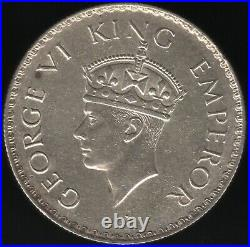 1938 B(Dot) British India George VI Silver Rupee World Coins Pennies2Pounds