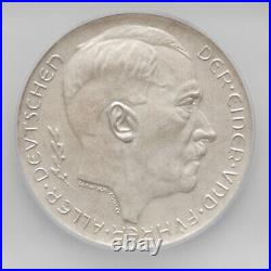 1938 Germany Third Reich Silver Coin / Medal, ICG MS63 Exonumia Commemorative