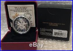 1939-2014 75th Anniversary Declaration World War Two Silver Proof $1 Dollar Coin