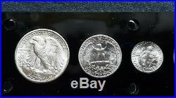 1946-d World War 2 Era Us Silver Mint Set Choice To Gem Bu Coins Look