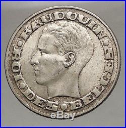 1958 BELGIUM Silver 50 Francs Coin BRUSSELS WORLD's FAIR 58 Baudouin i57142