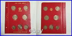 1968-1970 FAO Money World, Album 1 Complete 6 Panels (52 coins) Collection RARE
