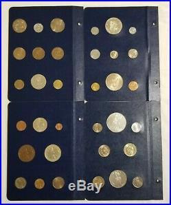 1971-1973 FAO Money World, Blue Album 2 Complete 4 Panels (34 coins)