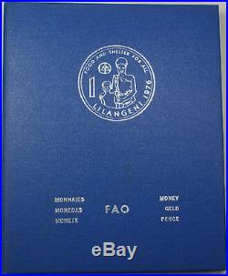 1976 Complete BLUE FAO World 34-Coin Album With Silver/Proof Coins As Issued