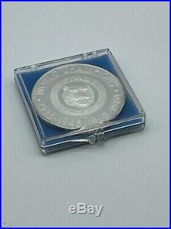 1984 World Champions Detroit Tigers Commemorative. 999 Silver Coin (Very Rare)