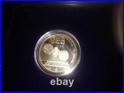1985-86 Mexico World Cup Soccer Silver Proof 3 Coin Set