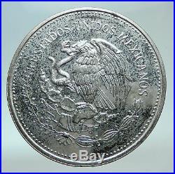 1985 Mo MEXICO FIFA World Cup 1986 Football Genuine Silver 100 Peso Coin i82431
