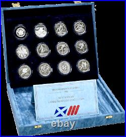 1986 Royal Mint World Commonwealth Games Silver Proof Coin Collection Set + COA
