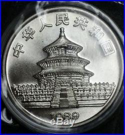 1989 China Silver Panda 10 Yuan 1 oz. Fine Silver Round Brilliant World Coin