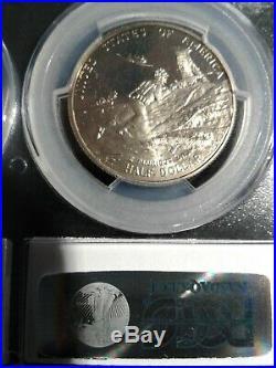 1991-95 W PCGS PR69 Cameo World War II $1 & 50C RARE 2 Coin Set SUPER RARE