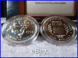 1994 World Cup Six Coin Set Of Proof Coins Including Gold And Silver Coins