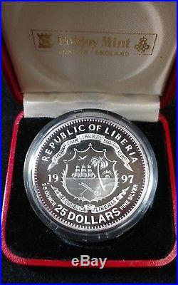 1997 Republic of Liberia $25 25th Anniv. Standard Cat World Coins Proof Silver
