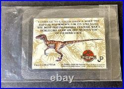 1997 The Lost World Jurassic Park Velociraptor Silver Dollar Coin
