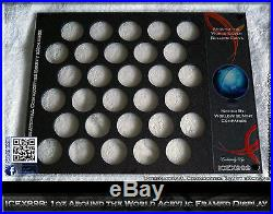 1oz Around the World Acrylic Frame Silver Coins Display + Free Stand