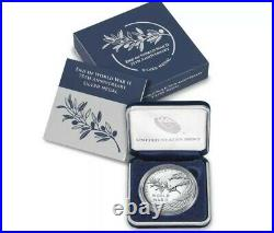 (2) 2020 End of World War 2, 75th Anniversary 1oz Silver Medal Eagle SEALED