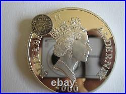 2000 5OZ ALDERNEY£10 SILVER PROOF COIN BOX & COA only 1000 worldwide No-0241