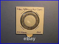 2000 Czech Rep 200 Korun INT MONETARY FUND WORLD BANK Silver Proof Coin Slovakia