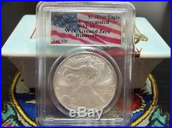 2001 $1 1 of 426 Silver Eagle PCGS WTC World Trade Center 911 recovery