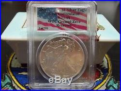 2001 $1 1 of 531 Silver Eagle PCGS WTC World Trade Center 911 recovery