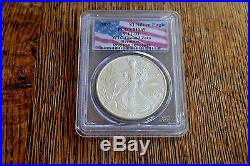 2001 WTC PCGS MS69 Bar Code American Silver Eagle Recovery World Trade Center