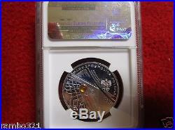 2002 Poland Silver 10zl NGC PF68 2002 World Football Cup Korea/Japan soccer coin