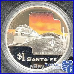 2004 $1 Great Rail Journey Of The World 1oz Pure Silver Proof 5 Coin Set