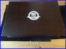 2004 Silver Proof 4 Coin Box Set + Coa Fifa 100 Years Of World Football
