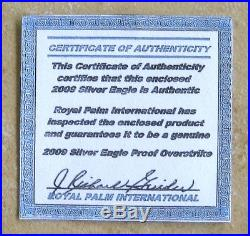 2009 Silver Eagle Overstrike Proofed With Coin World News Article For Posterity
