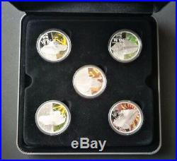 2010 $1 TANKS OF WORLD WAR II 1OZ SILVER PROOF 5 COIN SET Perth Mint