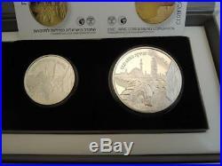 2010 Israel Akko / Unesco World Heritage Sites PR+BU Silver Coins set +box +COA