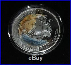 2011 $1 SHIPS THAT CHANGED THE WORLD SANTA MARIA 1oz SILVER PROOF COIN