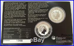 2011 Berlin World Money Fair Australian Kookaburra and Koala 1oz Silver Coins