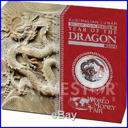 2012 World Money Fair Berlin Coin Show Special Black Dragon 1oz Silver Coloured
