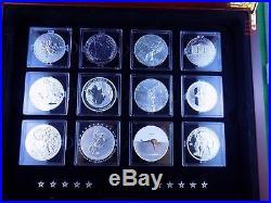 2013 FABULOUS 15 FAMOUS SILVER COIN WORLD BULLION 1 Oz CANADA SET RCM WITH COA